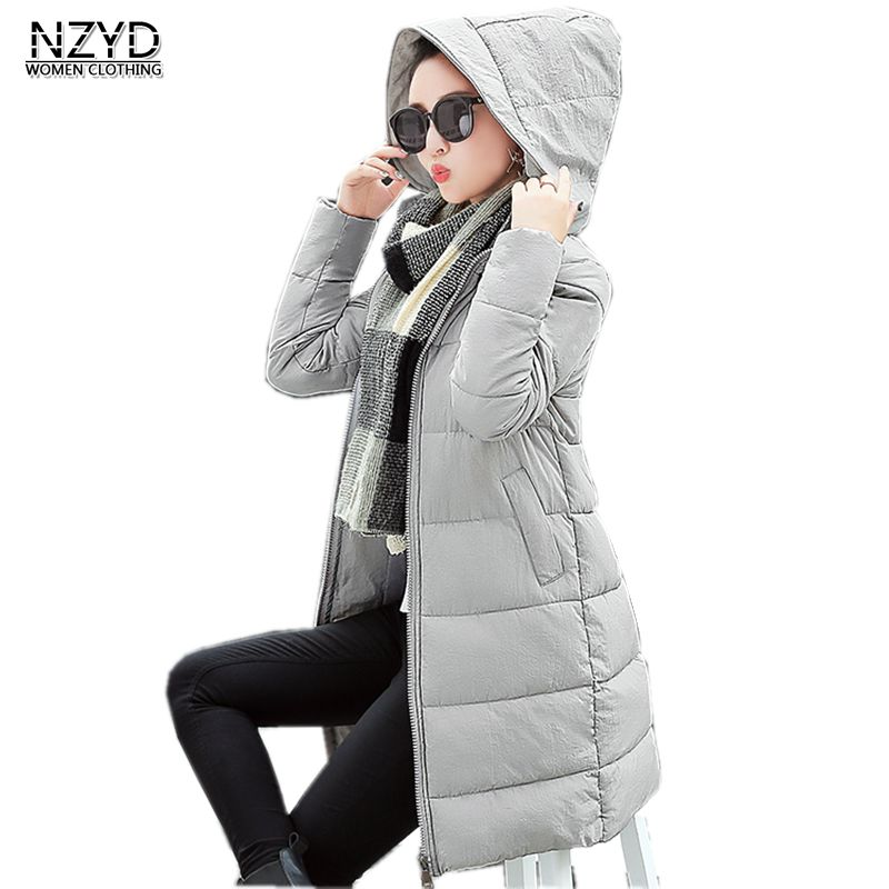 Women Winter Jacket Down 2018 New Fashion Hooded Warm Medium long Solid color Coat Long sleeve Slim Big yards Parkas LADIES336 waterfall spout chrome brass bathroom tub faucet 3 pcs sink mixer tap