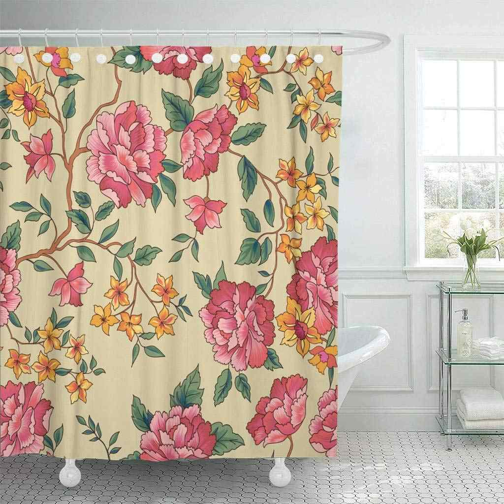 Fabric Shower Curtain Peony Fl