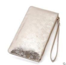 2016brand fashion PU Bolsas Mujer Women Femme Long Wallet Zipper Clutch With Wristband Female Phone Bags Carteiras Feminina