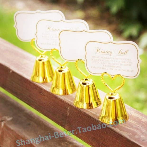 Free Shipping 300pcs Wedding Bells Card Holder Party Gift Beter
