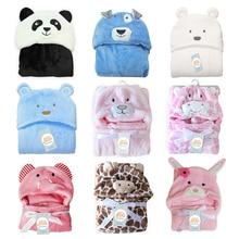 Милое детское банное полотенце из флиса в форме Милого Животного, детское полотенце с капюшоном, халат, накидка, детское одеяло для новорожденных