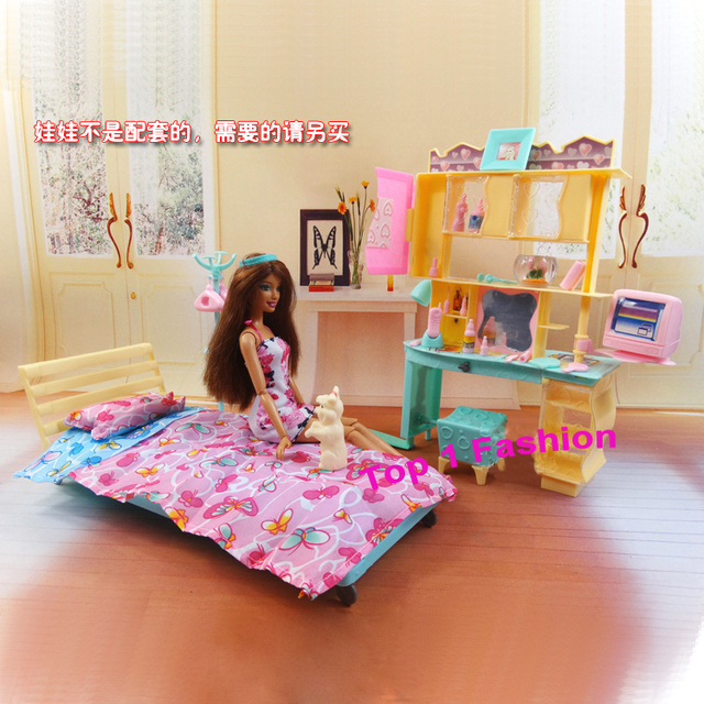 New Arrival Girl Gift Play Toy Doll House Bedroom Furniture For Bjd