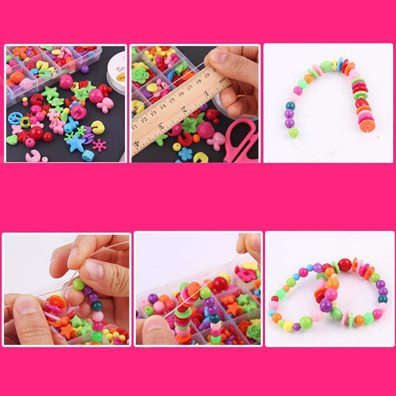 DIY ручной из бисера игрушки с аксессуар набор детского творчества 24 ювелирные изделия девушка сетке делая игрушки развивающие игрушки Детские подарок