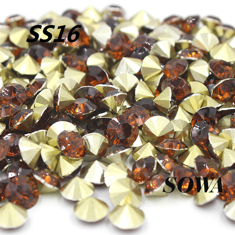 Free Shipping New (50G)7200pcs/lot SS16(3.8-4.0mm) Brown Color Resin Pointback For Bags/Garment DIY