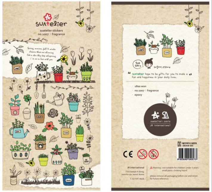 alice 39 s secret garden fragrance plant decoration diary stickers diy album mobile phone. Black Bedroom Furniture Sets. Home Design Ideas
