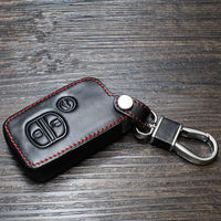 BBQ@FUKA Leather Car XV Smart Remote Key Fob Holder Cover Case For Forest 2013 3 Bottons
