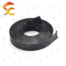 27 метров P2 ширина плоского ремня 25 мм толщина 2 мм цвет черный полиуретан со стальным сердечником для фитнес оборудования