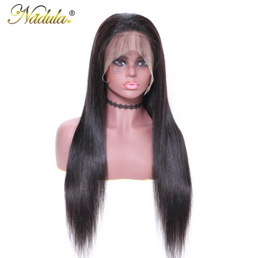 Парики из волос Nadula, 360, парик с фронтальным кружевом, бразильские прямые волосы, 12-24 дюйма, парик из человеческих волос для черных женщин, парик из человеческих волос с фронтальным кружевом
