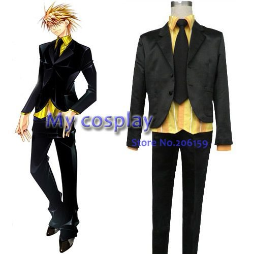Lucky Dog Anime Cosplay Gina Carlo Men s Uniform Male Japanese anime Cosplay  jacket suit Halloween Party plus size anime Costume 4f29f9971