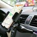 Universal de 360 grados del coche de ranura de cd dash mount teléfono sostenedor del soporte para el iphone samsung htc sony asus zenfone carphone soporte