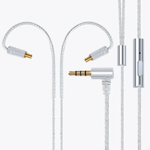 Headphone Upgrade Cable Silver Plated Wire Headset MMCX Cable SE215 SE315 IE80 IE8I IE8 A2DC IM 2Pin 0.78mm Earphone Cable 10 50 95m 14awg silver plated cable teflon 2mm2 od 2 4mm headphone cable diy earphone wire audio cable high temperature wire