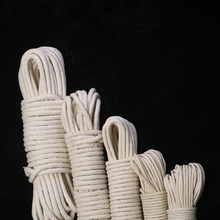 4/6/8/10/12/20mm Natural Braided Round Cotton Rope DIY Handwork Cotton Cords All-Purpose Free Shipping 10m/25m/50m/75m/100m