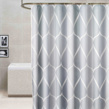 Shower Curtain Waterproof Bath Curtains Bathroom Geometric Light Grey For Bathtub Bathing Cover Extra Large Wide 12pcs Hooks