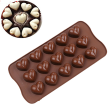 TTLIFE Love Heart Silicone Mold Jelly Ice Cake Chocolate Mould Bakeware Baking Tool Kitchen Soap Biscuit Muffin Form Pastry