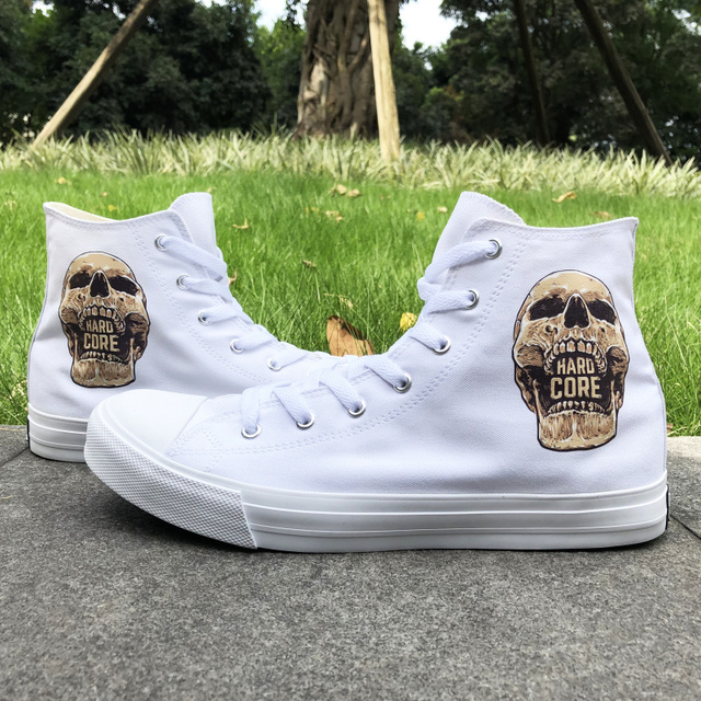 HARD CORE SKULL HIGH TOP SHOES (2 VARIAN)
