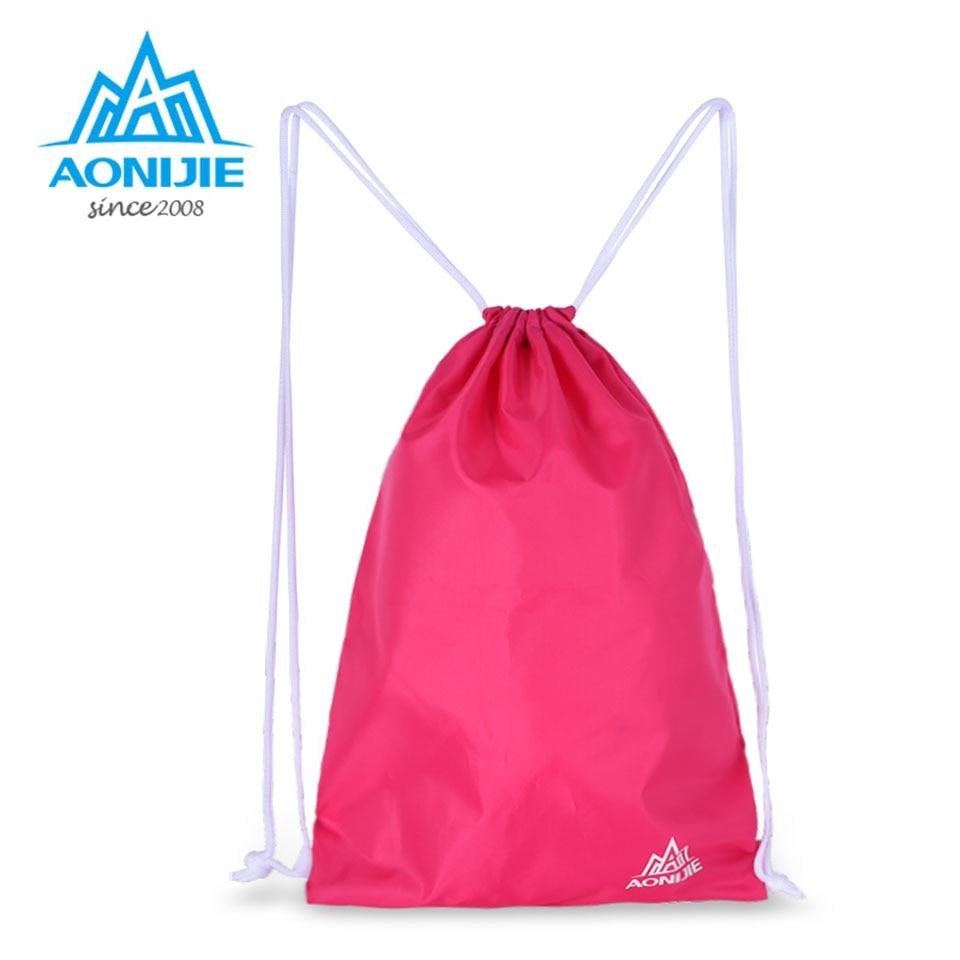 AONIJIE Simple Drawstring Backpack Women Men Ultralight Waterproof Yoga Fitness Sports Bag Outdoor Camping Climbing bag