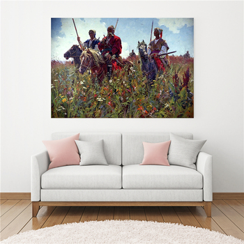 Home Picture Abstract Creativity Field Cossacks Horse Poster Vitage Wall Art For Retro Canvas Painting Scandinavian Decoration image
