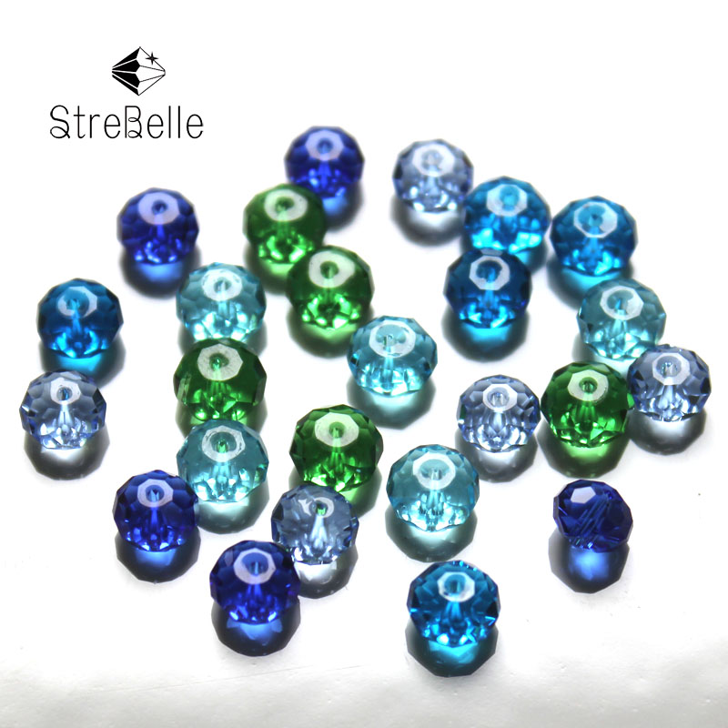 Rondelle Mixed Beads Jewelry Decorative Crystal Bead 100Pcs Bag 4x6mm DIY Cloth Accessory Crystal Beads in Beads from Jewelry Accessories