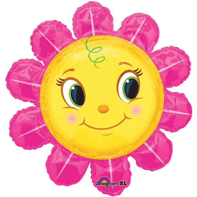 2pcslot anagram 29 inch smiley pink flower foil balloons cartoon 2pcslot anagram 29 inch smiley pink flower foil balloons cartoon happy face birthday balloon mightylinksfo