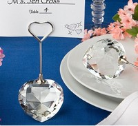 10pcs Lot Choice Crystal Collection Heart Design Place Card Holder Favors Wedding Party Wz009