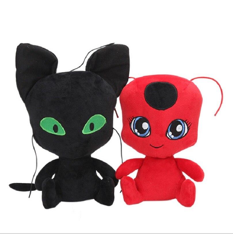 Kawaii Comic Miraculous Ladybug Character Plush font b Toy b font Ladybug font b Toys b