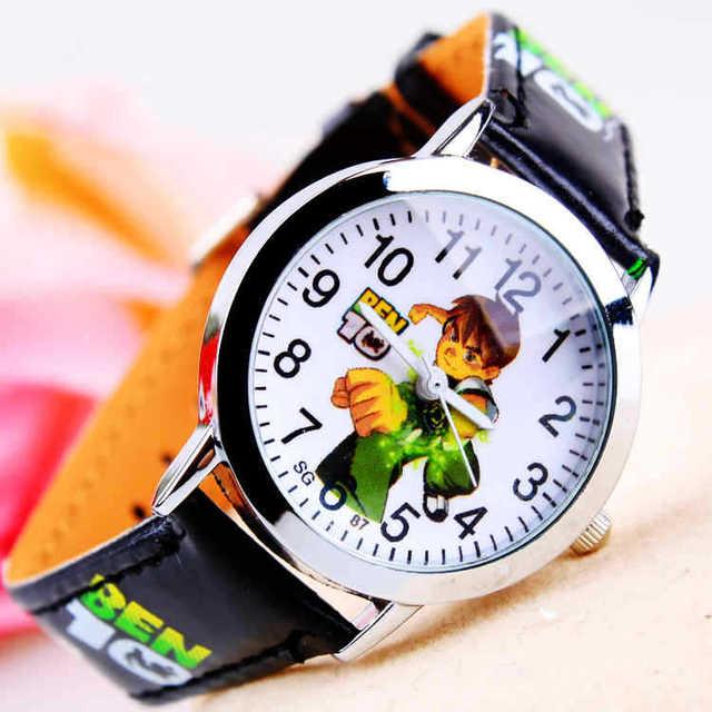Hot Sale New Fashion Cute Cartoon Children Watches For Boys Kids Quartz Cool Sport Strap Leather Wristwatch Gifts Clock Relojes