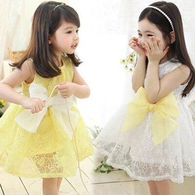 d5d11670d Desgaste de los niños sundress de las muchachas 2015 verano nueva chica  coreana princesa vestido de
