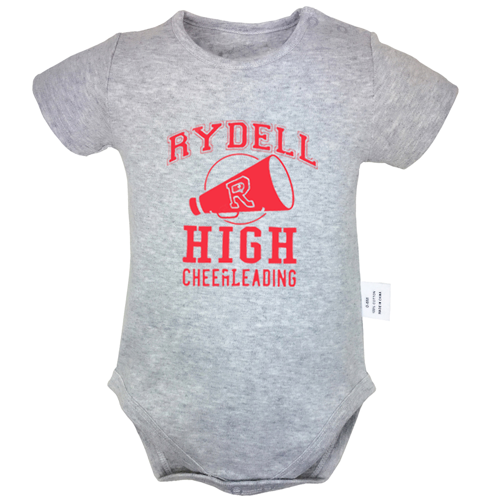 Rydell High Cheerleading Choose Your Weapon Design Yellow Blue Newborn Baby Bodysuit Suit Toddler Onsies Jumpsuit Cotton Clothes