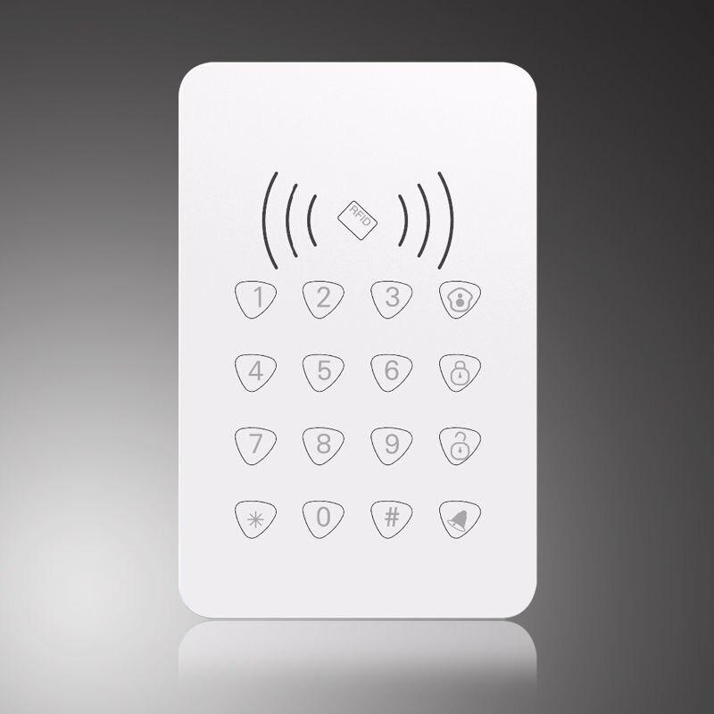 imágenes para 433 MHz RFID RFID teclado Táctil teclado inalámbrico Para G90E G90B Wifi Sistema de Alarma Casera
