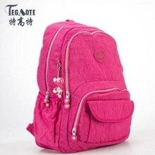 2017 TEGAOTE Women Backpack NylonWaterproof Teenage Girls Schoolbag Female Backpacks Casual Travel bag Bags Ladies Bagpack 1370