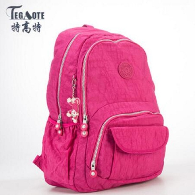 41bfbe375a 2017 TEGAOTE Women Backpack NylonWaterproof Teenage Girls Schoolbag Female  Backpacks Casual Travel bag Bags Ladies Bagpack 1370