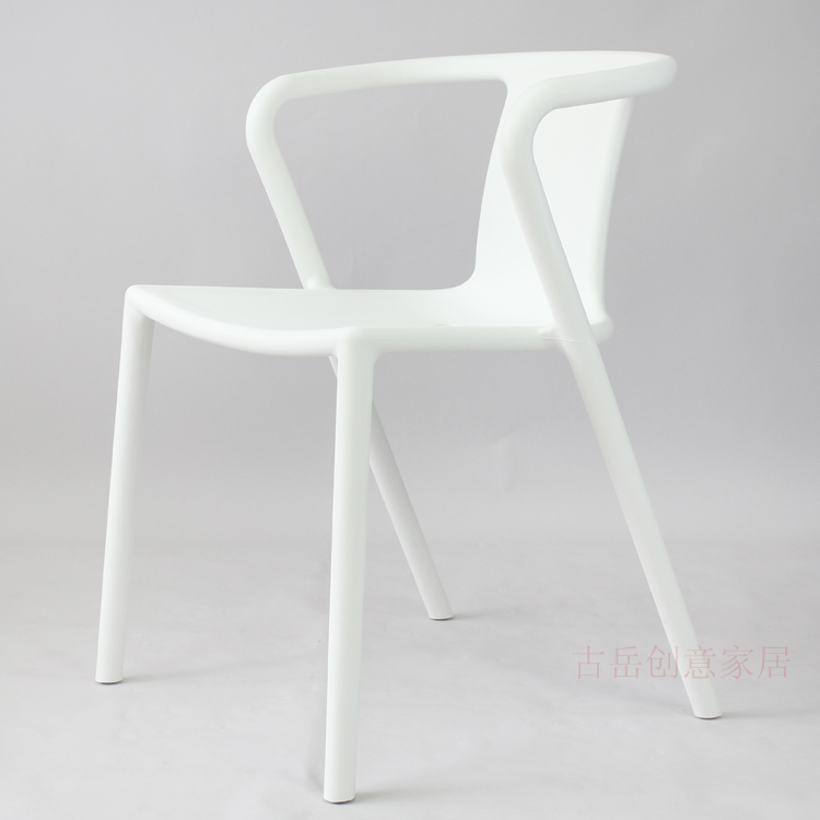 Fashion Creative Minimalist White Dining Chairs Continental Cafe Restaurant Ikea Plastic Chair Designer Hotel In Shampoo From Furniture On