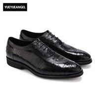 Одежда высшего качества бренд Кружево на шнуровке Sapato masculino couro Мужская деловая обувь мужская обувь Пояса из натуральной кожи Бесплатная до