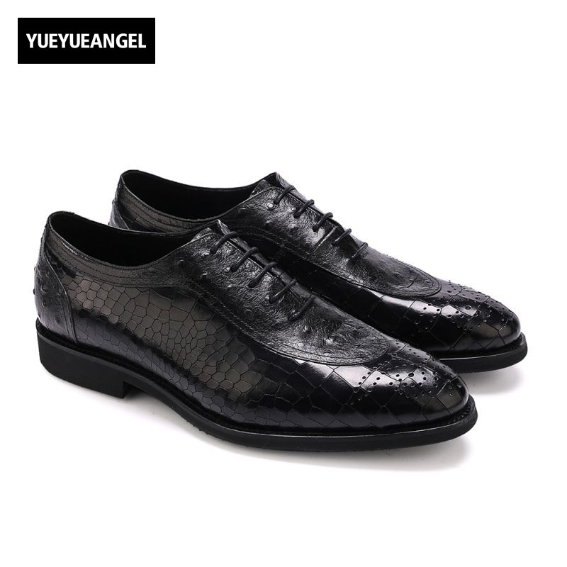 Top Quality Brand Lace Up Sapato Masculino Couro Men Formal Shoes Male Footwear Genuine Leather Free Shipping Plus Size 43 44 classic real cow leather formal shoes men plus size business flat pointe dress shoes male lace up top quality leather footwear