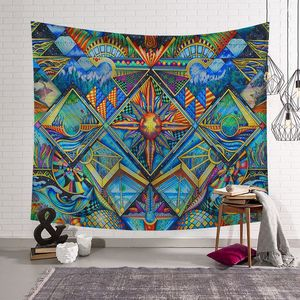 Image 5 - CAMMITEVER, pintura abstracta colorida, tapiz grande para colgar en la pared, toalla de playa, manta fina de poliéster, chal de yoga Mat