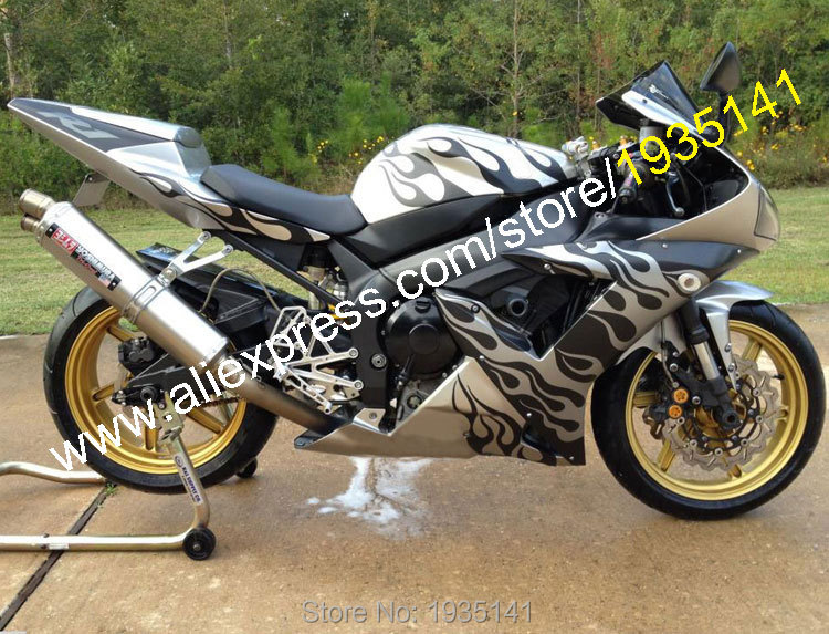 For Yamaha Accessories YZF R1 2002 2003 YZF1000 02 03 YZF-R1 Black Flame Sport Motorcycle Fairing (Injection Molding)
