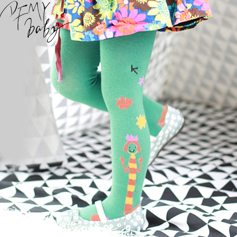 1 7T Cute Children Tights for Girls Cotton Girls Design Tights Kids Spring Pantyhose Baby Girl