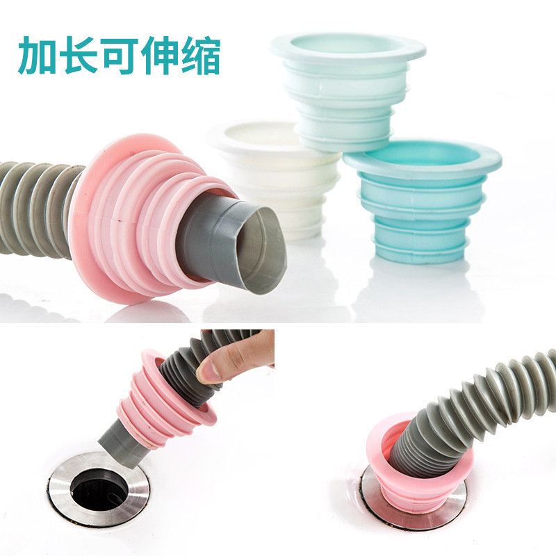 Washing Machine Floor Drain Pipes Parts Under Pad Of Silica Gel Pad Deodorant Floor Drain Odor Core Drain Pipe Sealing Plug