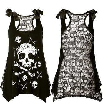 3D Skull Print A-line Dress