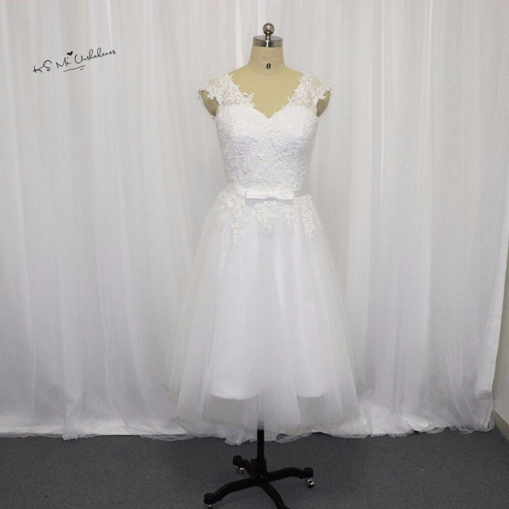 Vintage Short Wedding Dress Lace Princess Wedding Gowns