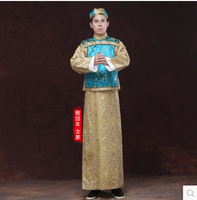 Chinese National gown robe Costume Hanfu Men Robe Clothing Traditional National Prince Tang Suit Stage Cosplay Costumes male