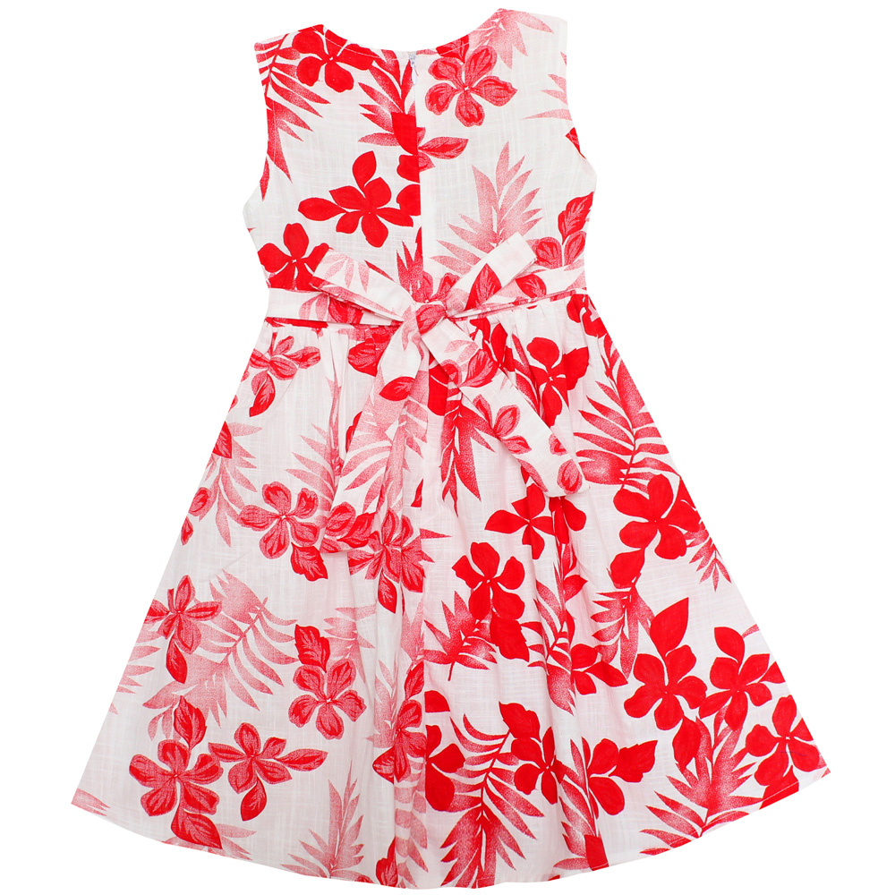 f76548abe44e0 Shybobbi Summer Fashion Girls Dress Red Flower Bow Belt Party Princess  Wedding Children Clothes Size 6 16-in Dresses from Mother & Kids on ...