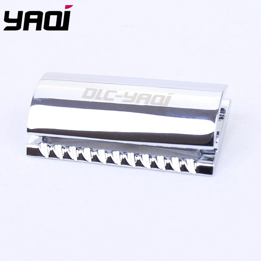 Yaqi Chrome Color Scalloped Bar Double Edge Safety Razor Head