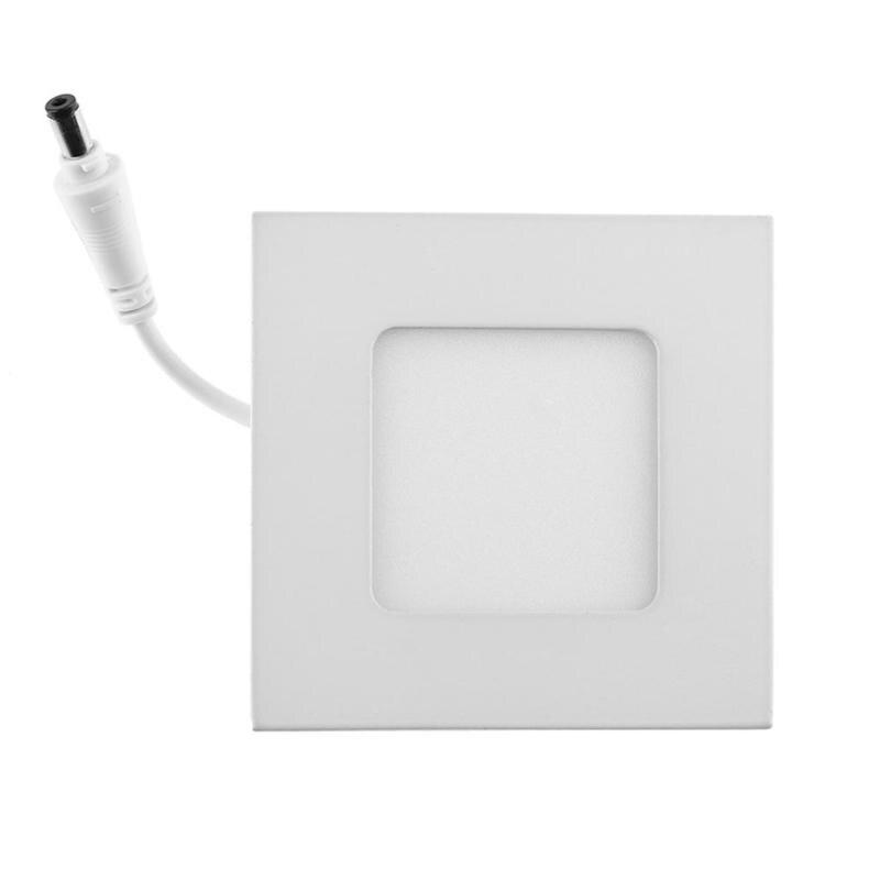 AC 85-265 В 3 Вт ультра тонкий потолочные встраиваемые 2835 15LED квадратный Панель светильник для лампы дома кухня Гостиная Освещение