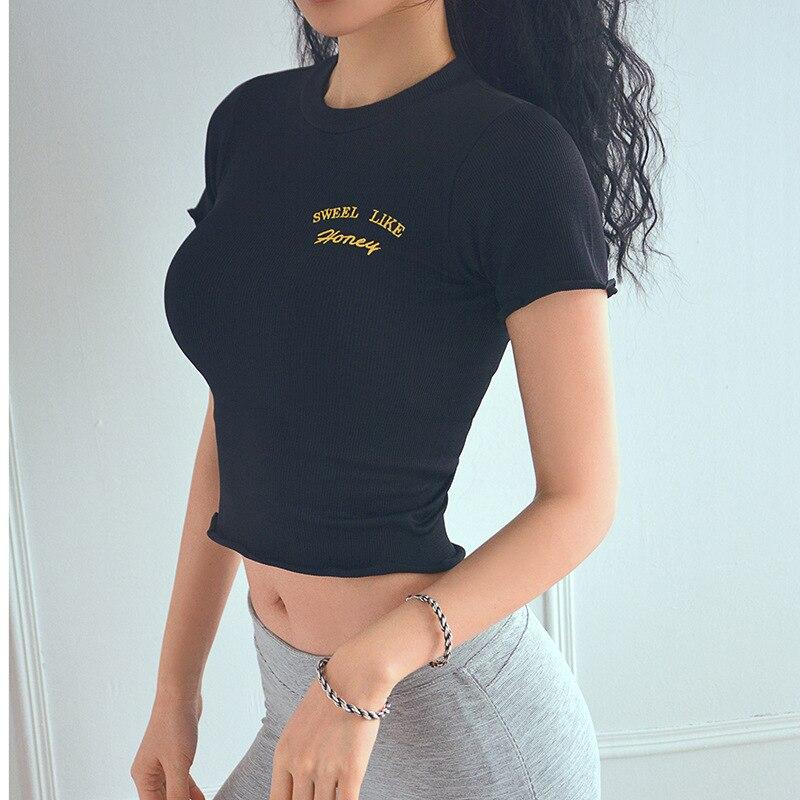 Élasticité Haute Forme Vêtements De Black Séchage Chemise T Crop Essayer Bonne rose Green Haut Physique Solide Femme Bn Entraînement Rapide Taille blanc Respirant dark Top yellow À TwHqnnXaxY