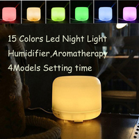 7 Colors LED Night Light 300ML Ultrasonic Air Humidifier Essential Oil Aromarherapy Diffsuer 4 Models Timing