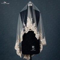 RSV4 Lace Edged Short Colored Bridal Veils