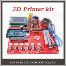 Reprap Rampas 1.4 + Mega 2560 + Heatbed mk2b + 12864 LCD controlador + DRV8825 + Tope Final Mecánico + Cables De Impresora 3D kit diy