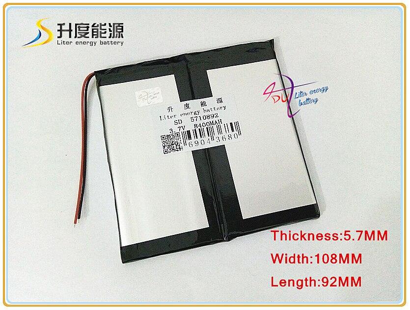 3,7 V 8400 Mah Sd 5710892 Lautsprecher Angenehm Zu Schmecken Li-ion Batterie Für Tablet Pc Handy polymer Lithium-ionen Batterie Mp4