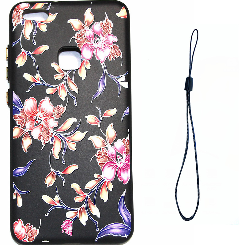 3D Relief flower silicone huawei P10 lite (6)